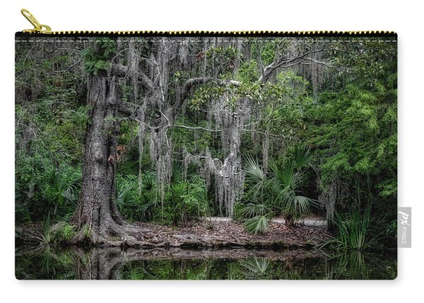 Carry-all Pouch featuring the photograph Along The Bank by Michael Colgate