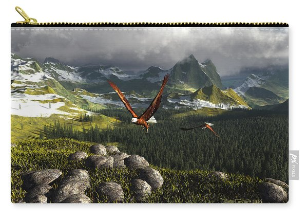 Along The Pinnacles Of Time Carry-all Pouch