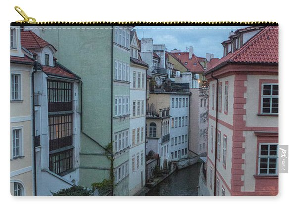 Carry-all Pouch featuring the photograph Along The Prague Canals by Matthew Wolf