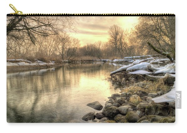 Along The Thames River Signed Carry-all Pouch