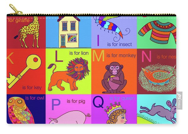 Alphabet For Children Carry-all Pouch