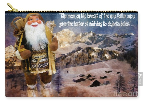 Alpine Santa Card 2015 Carry-all Pouch