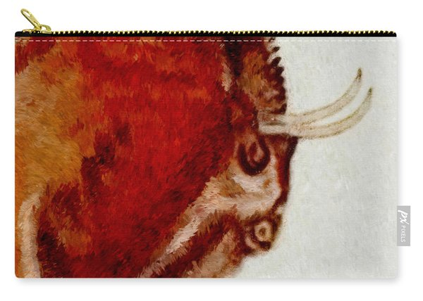 Altamira Prehistoric Bison Detail Carry-all Pouch