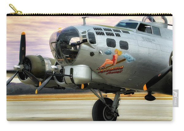 Aluminum Overcast - B-17 - World War II Carry-all Pouch
