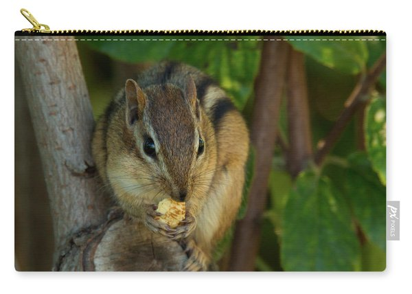 Carry-all Pouch featuring the photograph Alvin Eating 1 by Brian Hale