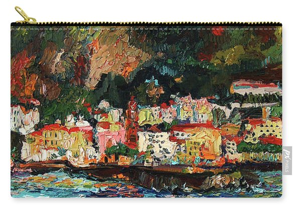 Amalfi Italy Panorama Impressionist Oil Painting Carry-all Pouch