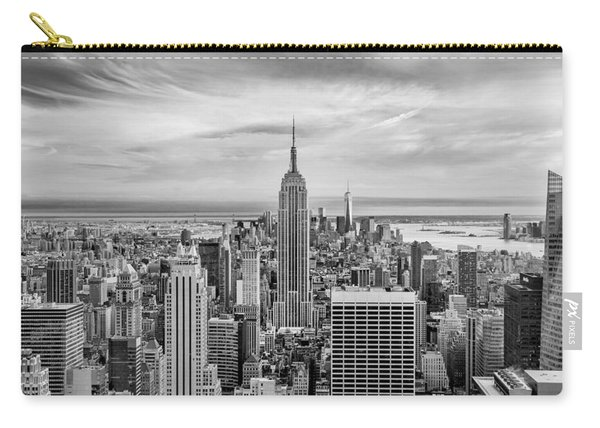 Amazing Manhattan Bw Carry-all Pouch