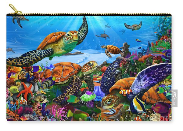 Amazing Undersea Turtles Carry-all Pouch