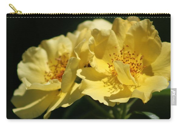 Amber Yellow Country Rose Carry-all Pouch