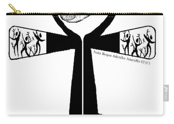 Amen Ankh Bw Carry-all Pouch