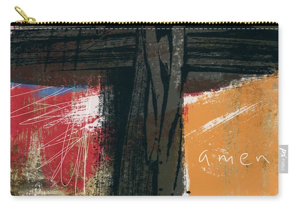 Amen Contemporary Cross- Art By Linda Woods Carry-all Pouch