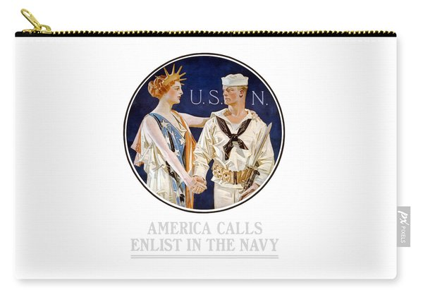 America Calls Enlist In The Navy Carry-all Pouch