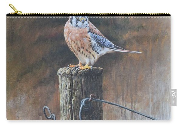 Carry-all Pouch featuring the painting American Kestrel by Alan M Hunt