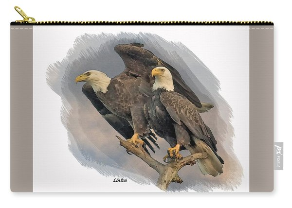 American Bald Eagle Pair Carry-all Pouch