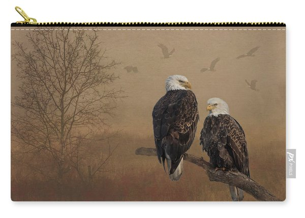 American Bald Eagle Family Carry-all Pouch