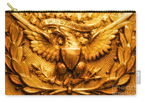 American Civil War Union Army Brass American Eagle Emblem Carry-all Pouch
