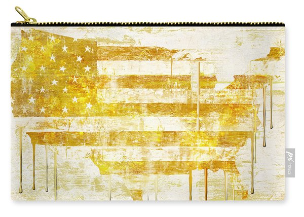 American Flag Map Carry-all Pouch