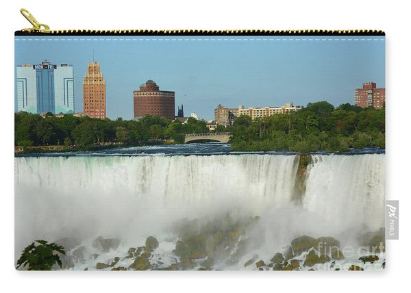 American Falls With Bridal Veil Carry-all Pouch