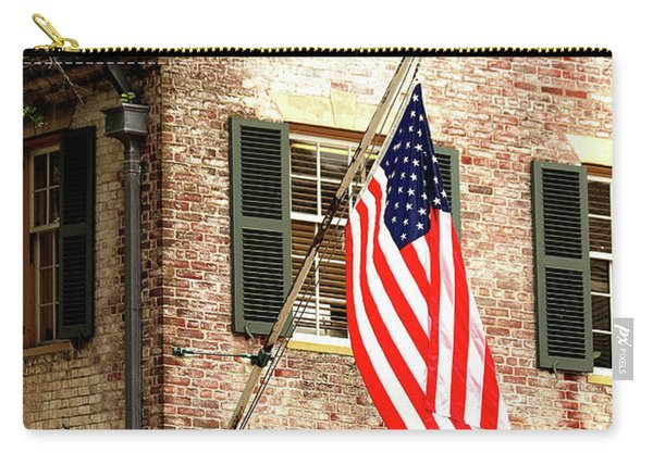 American Flag In Colonial Williamsburg Carry-all Pouch