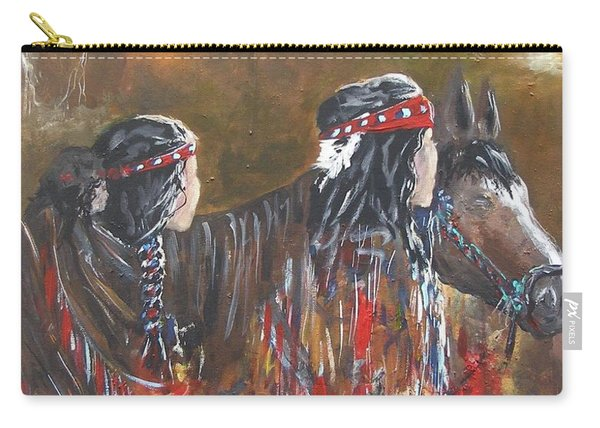 American Indians Family Carry-all Pouch
