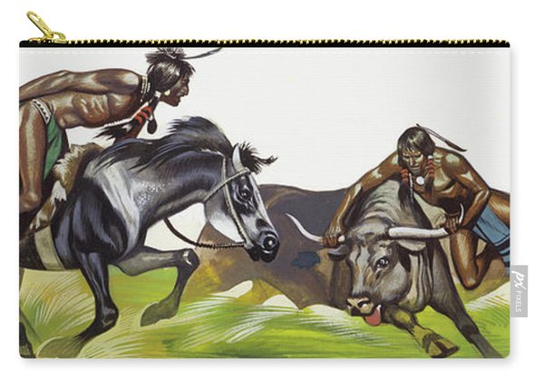 American Native Indians Carry-all Pouch