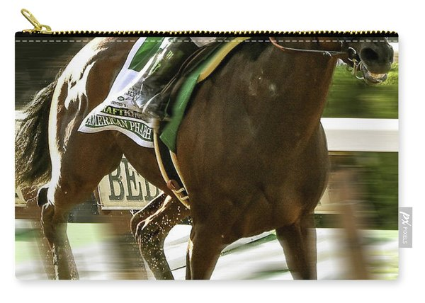 American Pharoah And Victory Espinoza Win The 2015 Belmont Stakes Carry-all Pouch