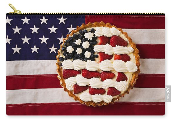American Pie On American Flag  Carry-all Pouch