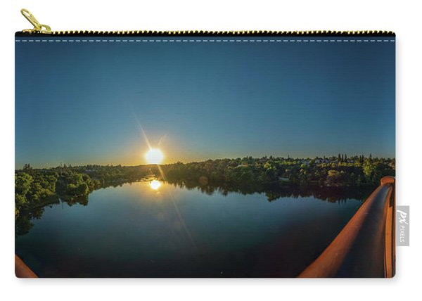 American River At Sunrise - Panorama Carry-all Pouch