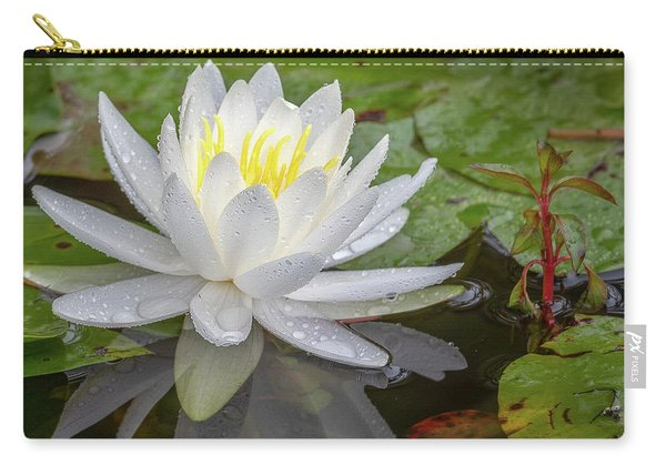 American White Water Lily Carry-all Pouch