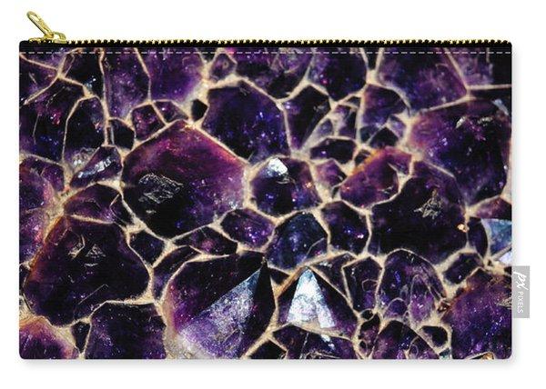 Amethyst Quartz Crystal Smithsonian Carry-all Pouch