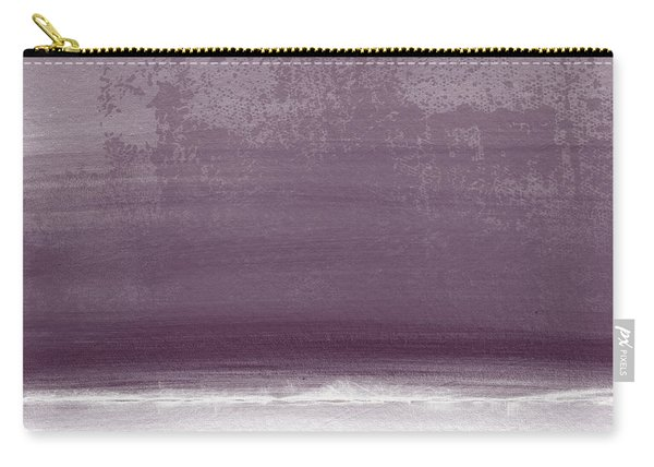 Amethyst Shoreline- Abstract Art By Linda Woods Carry-all Pouch