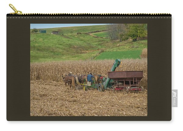 Amish Harvest In Ohio  Carry-all Pouch