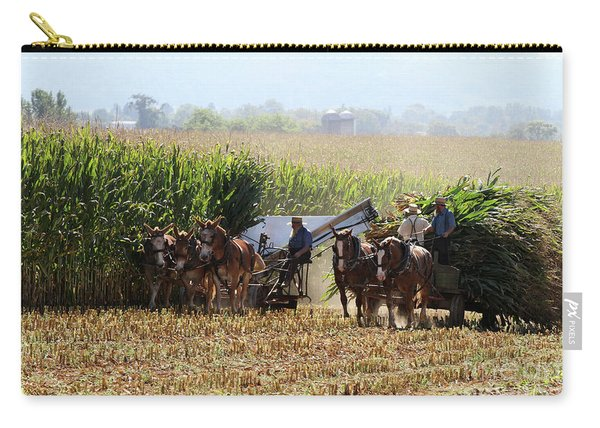 Amish Men Harvesting Corn Carry-all Pouch