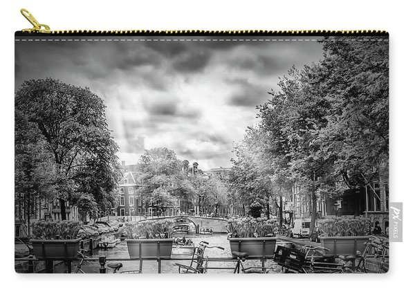 Amsterdam Gentlemen's Canal - Monochrome Carry-all Pouch