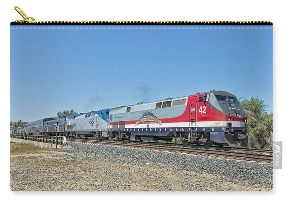 Carry-all Pouch featuring the photograph Amtrak 42  Veteran's Special by Jim Thompson