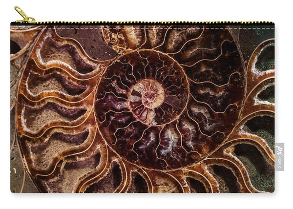 Carry-all Pouch featuring the photograph An Ancient Shell by Jaroslaw Blaminsky