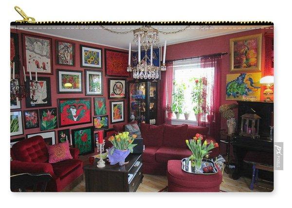An Artists Livingroom Carry-all Pouch