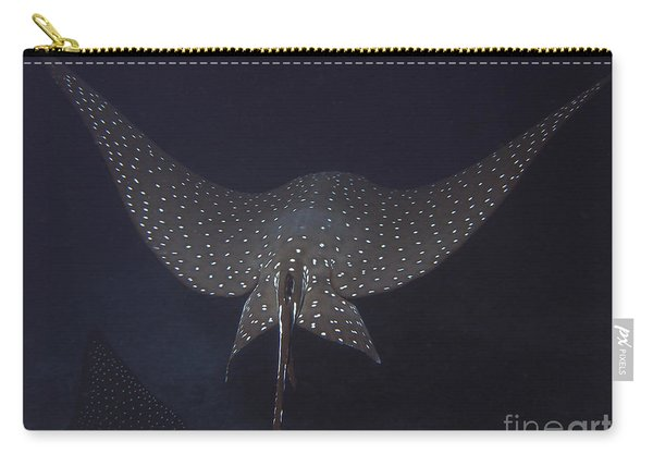 An Eagle Ray In Flight, Cocos Island Carry-all Pouch