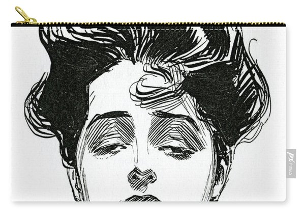 An Iconic Gibson Girl Portrait  Carry-all Pouch