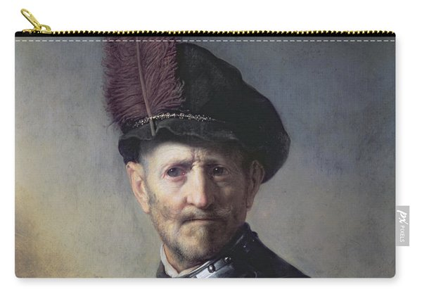 An Old Man In Military Costume Carry-all Pouch