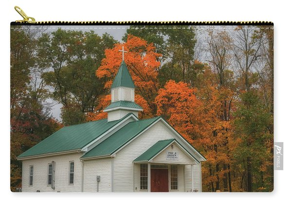 An Old Ohio Country Church In Fall Carry-all Pouch