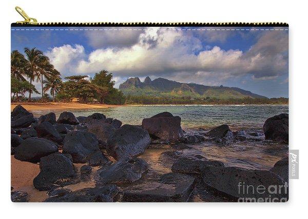 Carry-all Pouch featuring the photograph Anahola Beach Park On The Island Of Kauai, Hawaii by Sam Antonio Photography