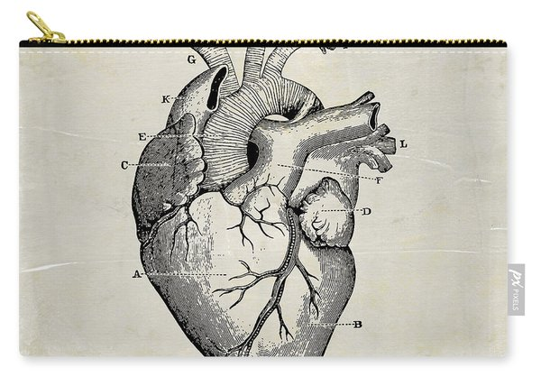 Anatomical Heart Medical Art Carry-all Pouch