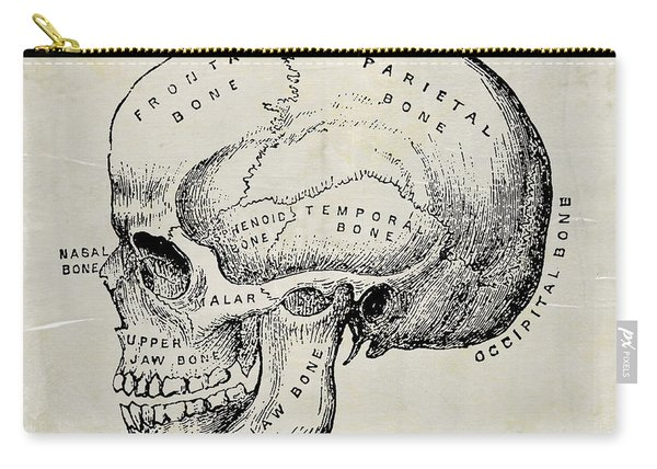 Anatomical Skull Medical Art Carry-all Pouch