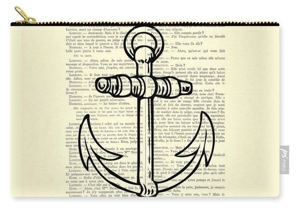 Anchor Black Lines Old School Illustration Carry-all Pouch