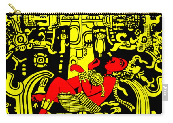 Ancient Astronaut Yellow And Red Version Carry-all Pouch