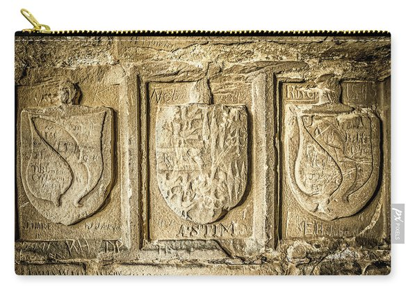 Carry-all Pouch featuring the photograph Ancient Carvings by Nick Bywater