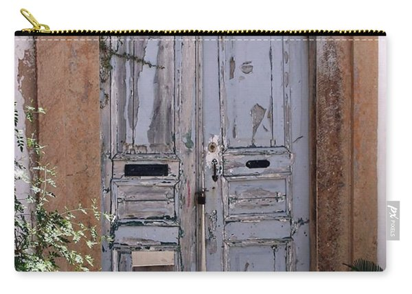 Ancient Garden Doors In Greece Carry-all Pouch