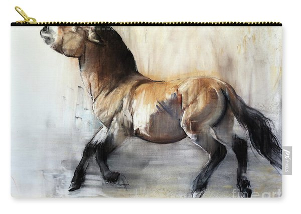 Ancient Horse Przewalski In Winter Carry-all Pouch