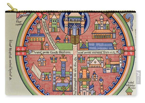 Ancient Map Of Jerusalem And Palestine Carry-all Pouch